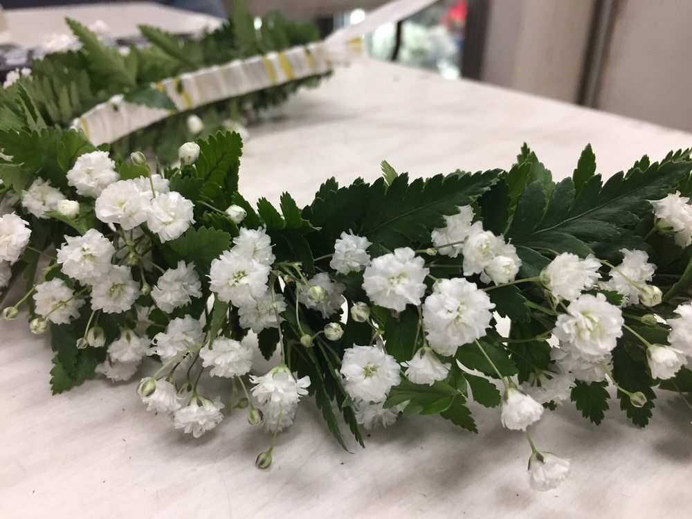 Babys Breath Haku Haku Flower Crown Lei