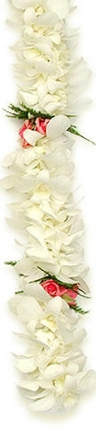 Double Orchid Rose Lei - Hawaiian Leis