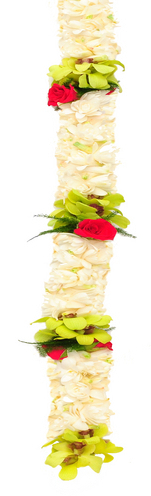 Double Tuberose Green Orchid Red Rose | Wedding Leis For Women
