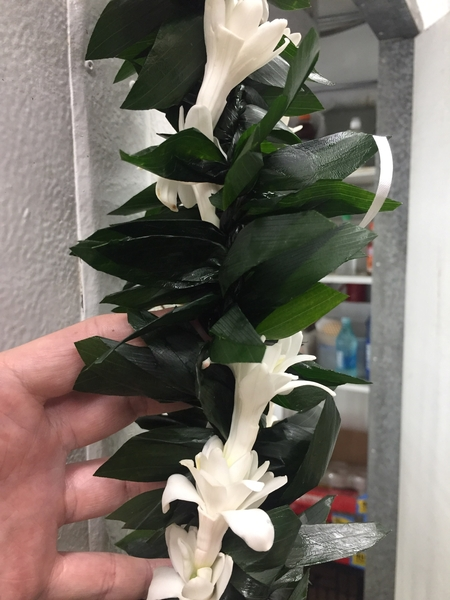 Double Ti Maile Orchid, Leis for Men