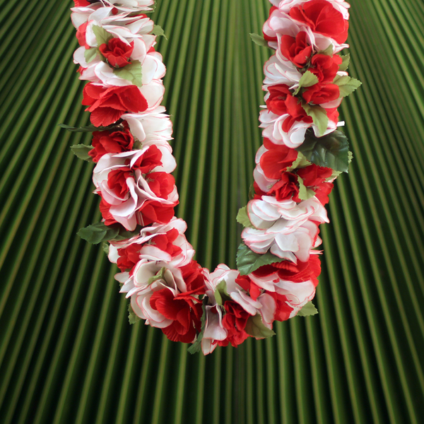 Everlasting Red Rose Combo Lei | Everlasting (Artificial)