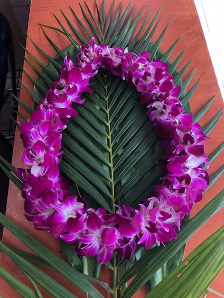 Double Purple Orchid | Specialty Orchid Leis