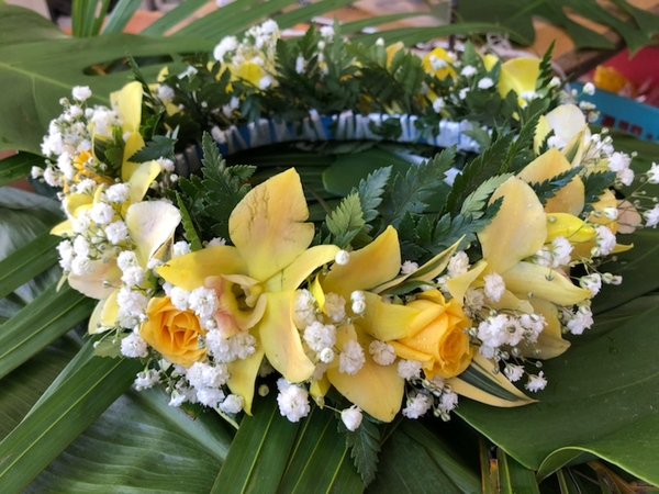 Yellow Theme Haku | Haku (Flower Crown Lei)