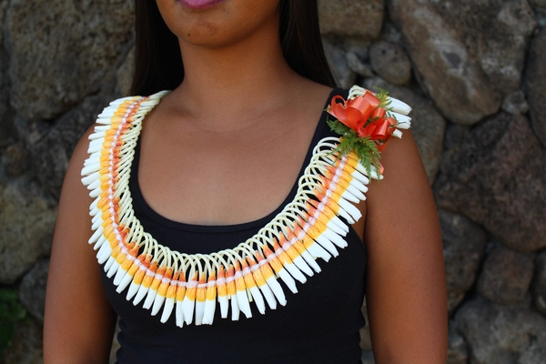 Micronesian Ginger Ilima Lei - Hawaiian Leis
